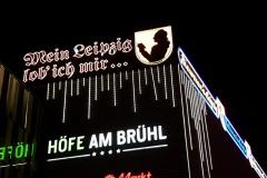 Leuchtreklame Bruehl beleuchtet